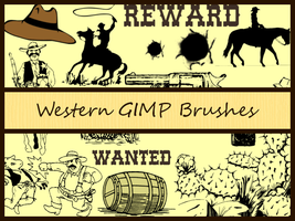 Western GIMP Brushes by Jedania
