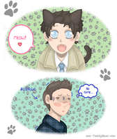 Kitten!Cas and Kid!Dean by xxx-TeddyBear-xxx