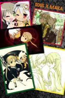 Maka and Soul Collage by Lucy-chan98