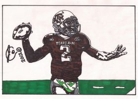 Johnny Manziel Ink Illustration by JColley79