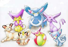 Pokecats by gerugeon
