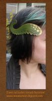 Tentacle barrette-  painted by missmonster