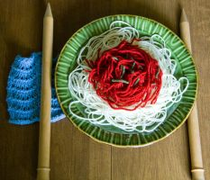 Spaghetti Yarn by JennDixonPhotography