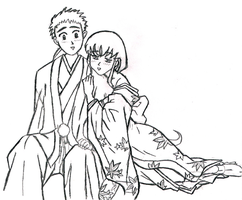 Ayeka and Tenchi by murasakirain