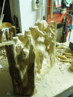 moose in progress 10A by woodcarve