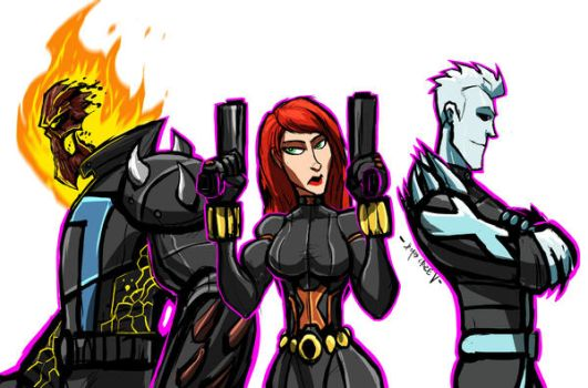 SOME MARVEL CHAMPS by Sabrerine911