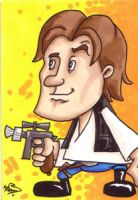 Star Wars Han Solo Sketchcard by kevbrett