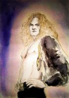 Evocation of Robert Plant from Led Zeppelin... by BlueMillenium