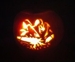 Knock Out Pumpkin Illuminated by doomiscool