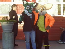 lucky fox with his freind by ryanwlf33