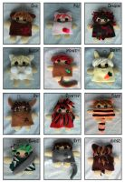 Chinese Zodiac Plushies by quacked