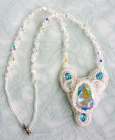 Elaborate one of a kind beadwoven necklace by EverAfterDesigns