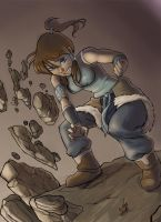 earthbending korra by mountainlaurelarts
