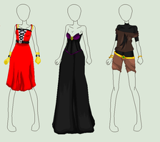 Fashion of Witchery, Guns and Scars - 1/3 availab. by IdiosyncraticAdopts