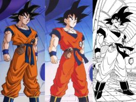 Son Goku (Namek-Frieza Saga) comparison by delvallejoel
