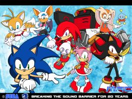 Sonic 20th Anniversary by macprodukshunz