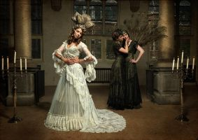 bridesmaids and weddingdress, by Somnia Romantica by SomniaRomantica