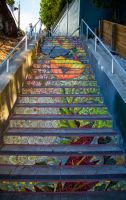 16th avenue - Lawton stairs by Cyberfoxbat