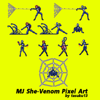 MJ She-Venom Pixel Art by tasuku13