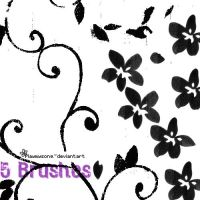5 Brushes Floral by playmysong