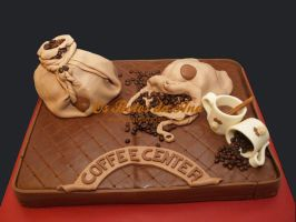 Coffee Theme 3D Cake by osbolosdaana