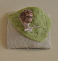 Snail on leaf by imagination-heart