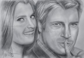 Castle and Beckett by verkoka