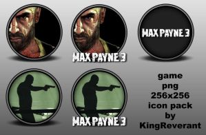 Max Payne 3 png icon pack by KingReverant