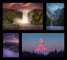 Landscape Thumbnail Studies 1 Day #127 by AngelGanev