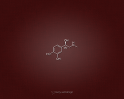 Adrenaline Molecule Denim Wallpaper in Red by averywebdesign