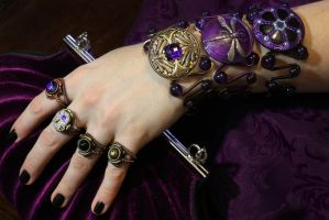 Purple Steampunk Jewelry by CatherinetteRings