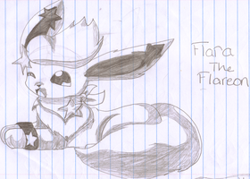 flara the flareon not colored by Freezetheglaceon