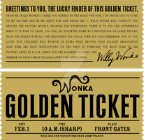 Willy Wonka's Golden Ticket by danjuwise1