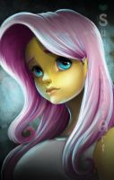Equestria Girls: Ominous Fluttershy by SugarHeartArt