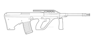 Steyr AUG Lineart by MasterChiefFox