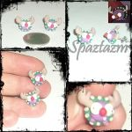 mini moose Xmas stud earrings by spaztazm