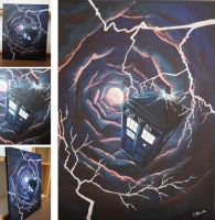 TARDIS in the Time Vortex by RenaLouringwood