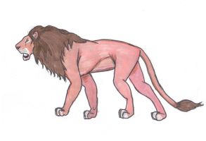 Male Lion Full Body by SpudYeisleyCreations