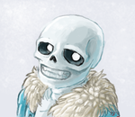 Painting Practice with Sans by Chickenwhite