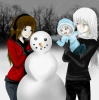 Playing in the snow -Hizaki- by melina678