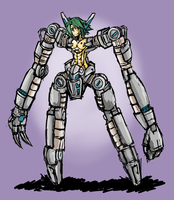 Spindly Robot With Android Torso by Endless-warr