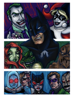 Batman and the rogues by rusting-angel