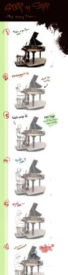 Boy Playing Piano POSTURE - Step By Step by walad-43