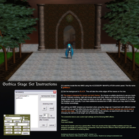 MMD Gothica Stage instructions by Trackdancer