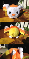 Candy Corn Bat Plush by Starcane-Stitches