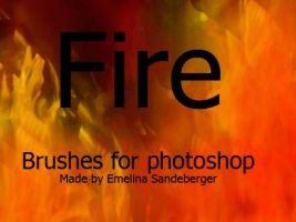 FIRE AND CANDLES - 4 usefull brushes for photoshop by EmelinaS