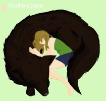 a girl and her wolf by Vampirechic1612