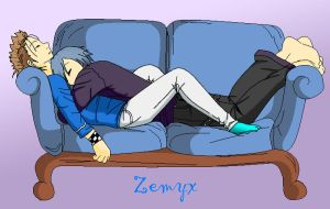 Zemyx - Sleeping Together by SakuraKeyblader78