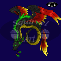 Winged Serpent Auction by Squirrelbits4u