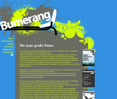 Bumerang page design by Mgssy